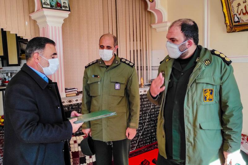 بسیجی ورزقانی از طرف سپاه پاسداران تقدیر شد